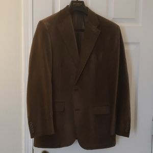 Men's green velvet blazer